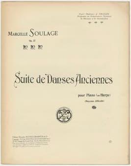 Marcelle Soulage: Suite de Danses Anciennes