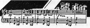 The measures of the concerto by Bloch that provided the layout for the Bloch City