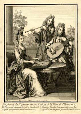 Nicholas and Robert Bonnart: Simphonie du tympanum, du luth, et de la flûte d'Allemagne, ca. 1690-1710 (British Museum)