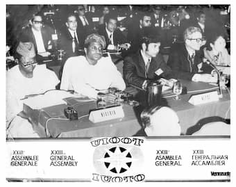 Second from left, Late Ignatius Amaduwa Atigbi initiator of World Tourism Day