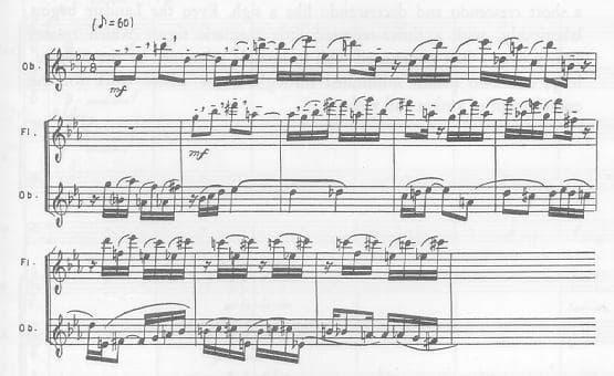 Igor Stravinsky: Symphony of Psalms, theme of the 1st fugue