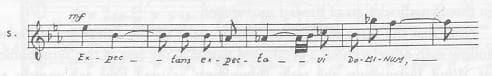 Igor Stravinsky: Symphony of Psalms, theme of the 2nd fugue