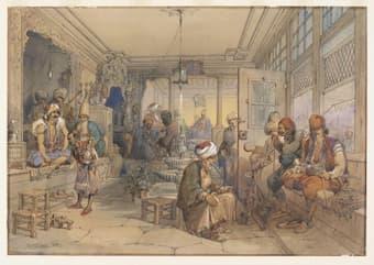 A Turskish Coffee House, 1854