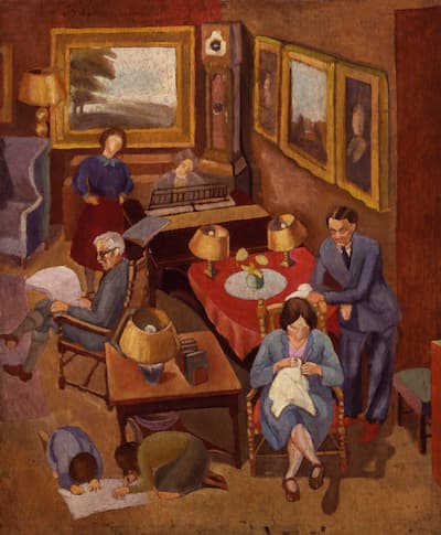Peggy Angus: Ramsay MacDonald with members of his family, 1930s (National Portrait Gallery, London)