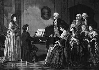 Beethoven playing for Mozart