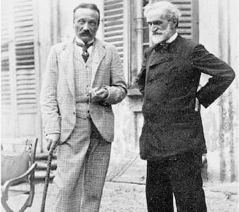 Boito and Verdi, 1893