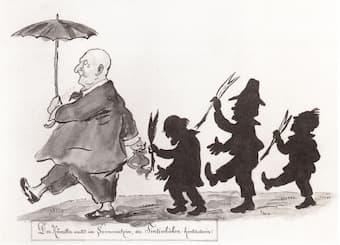 Otto Böhler: Bruckner caricature, 1897