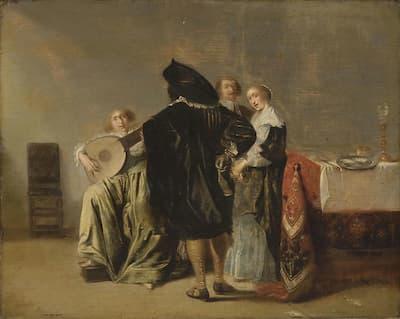Pieter Codde: The Lute Player, c. 1623-35 (Philadelphia Museum of Art)