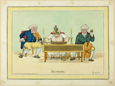Gillray: Ars musica, 1800 (Art Institute of Chicago)
