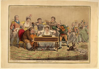 Gillray: Playing in Parts, 1801 (Library of Congress)