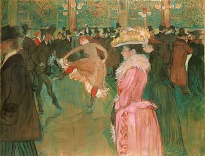 Henri de Toulouse-Lautrec: At the Moulin Rouge: The Dance, 1889-90 (Philadelphia Museum of Art)
