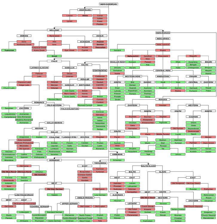 Indo-European Language Tree