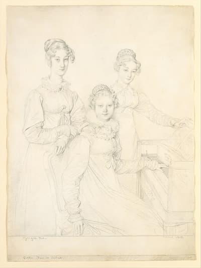 Ingres: The Kaunitz Sisters (Leopoldine, Caroline, and Ferdinandine), 1818 (Metropolitan Museum of Art)