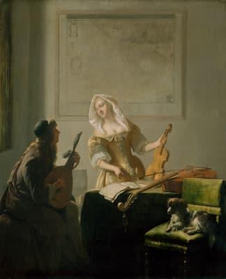 Ochtervelt: The Music Lesson, 1671 (Art Institute of Chicago)