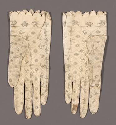 Pair of Gloves, ca. 1800 (Art Institute of Chicago)