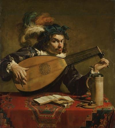 Theodor Rombouts: Lute Player, ca. 1620 (Philadelphia Museum of Art)