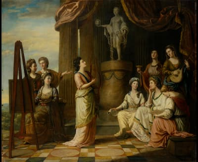 Richard Samuel: Portraits in the Characters of the Muses in the Temple of Apollo, 1778  (National Portrait Gallery, London)
