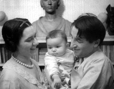 Nicolas Slonimsky with his family (With permission by Electra Slonimsky Yourke)