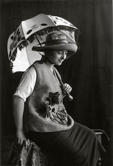 Sonia Delaunay wearing Casa Sonia creations, Madrid, c.1920