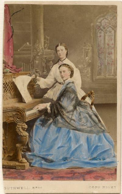 Southwell Brothers: Maria Feodorovna, Empress of Russia (Princess Dagmar); Queen Alexandra, 1863 (National Portrait Gallery, London)