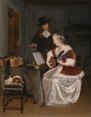 Terborch: The Music Lesson, ca. 1670 (Art Institute of Chicago)