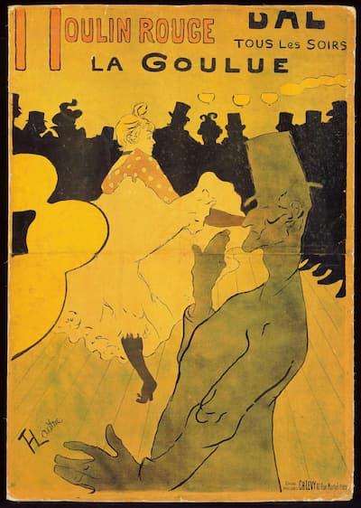 Henri de Toulouse-Lautrec: Moulin Rouge: La Goulue, 1891 (Philadelphia Museum of Art)