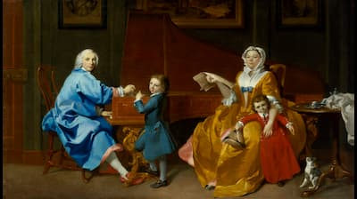 Marcus Tuscher: The Shudi Family Group, ca. 1742  (National Portrait Gallery, London)