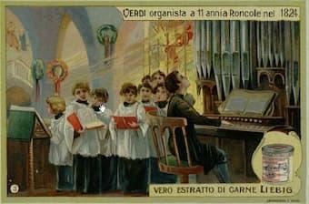 Verdi as organist in Busseto