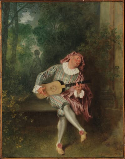 Watteau: Mezzetin, ca. 1718-20 (Metropolitan Museum of Art)
