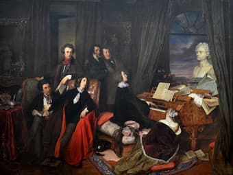Franz Liszt at the piano