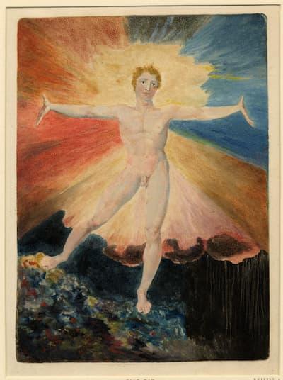 William Blake: A Large Book of Designs: Albion Rose, 1794-1796 (British Museum)