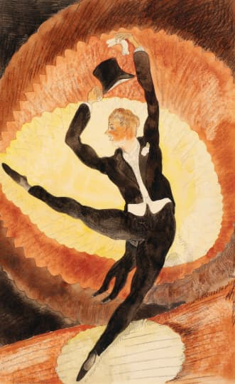Charles Demuth: In Vaudeville: Acrobatic Male Dancer with Top Hat, 1920 (Barnes Foundation)