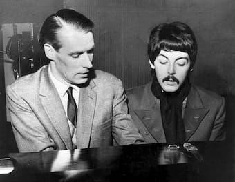 George Martin and Paul McCartney, 1969