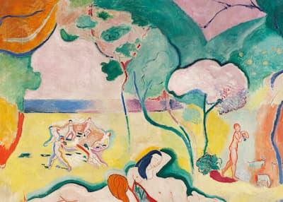 Henri Matisse: Le Bonheur de vivre (The Joy of Life), 1905-1906 (Barnes Foundation)
