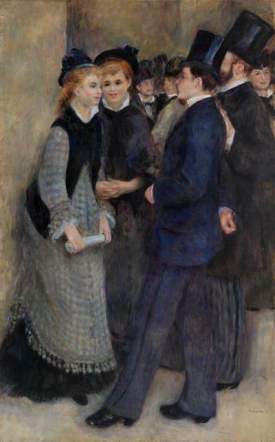 Pierre-Auguste Renoir: La Sortie du conservatoire (Leaving the Conservatory), 1876–1877 (Barnes Foundation)